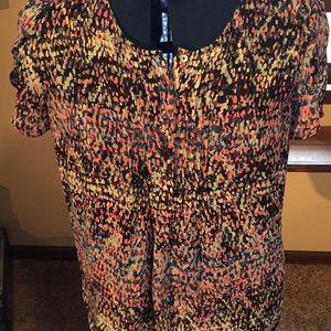 Light-weight breezy Monet pattern shirt